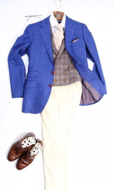 ダブルのジレとカチョッポリのジャケット