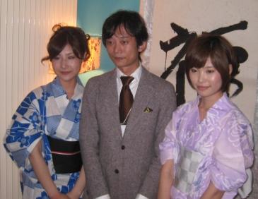 書道家姉妹 朝凪さん夕凪さんと松はじめ、フーダーズにて