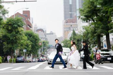新郎タキシード写真