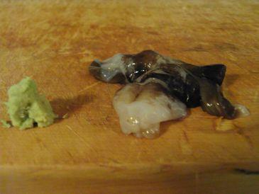 築地の寿司屋、酢飯屋の新鮮な魚貝