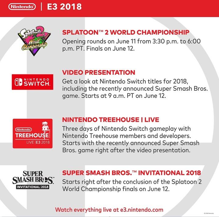 E任天堂 E3 スケジュール