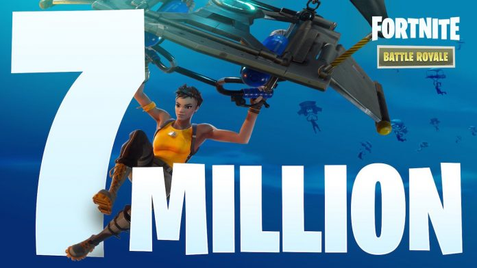 Fortnite 700万人突破