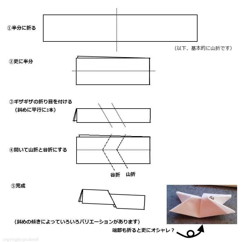 すべての折り紙 和風 折り紙 折り方 : ... それは一般的な折り方です