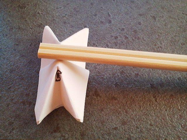 すべての折り紙 箸 折り紙 : 矢守くんと伊森ちゃん : 箸袋で ...