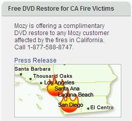 Free DVD Restore for CA Fire Victims