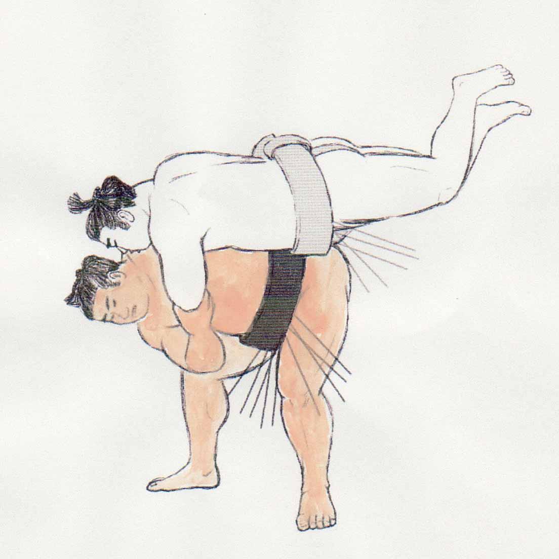 相撲 腰投げ