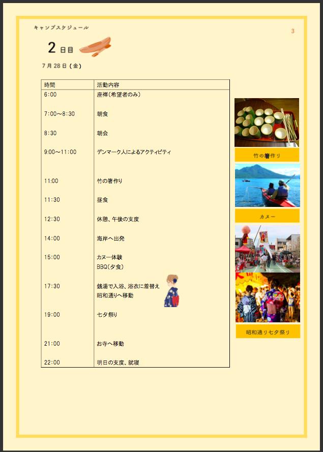 デンマークキャンプ2017 in 焼津 体験記 〜2日目〜