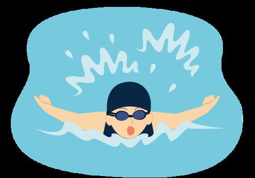 水泳をしている人の無料イラスト3