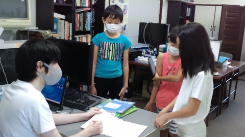 Makoto check homework