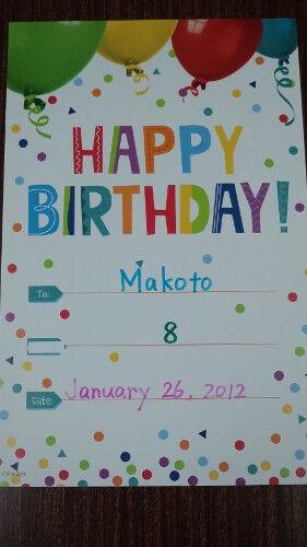 makoto's card