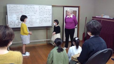 shiori and shizuka using verbs card conversation
