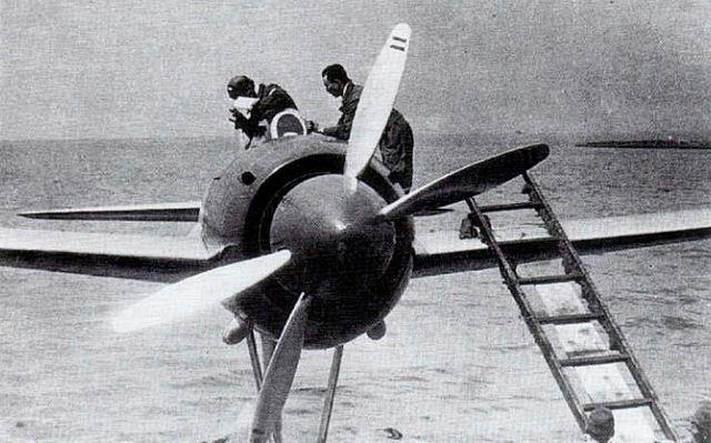 強風の原型機の2重反転プロペラ
