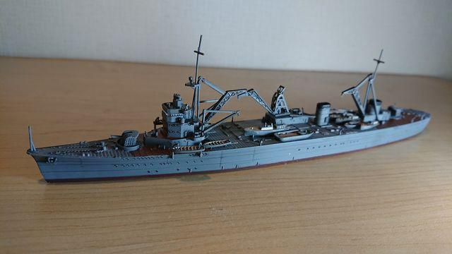 アオシマ 1/700 日本海軍 工作艦 明石製作� 完成!