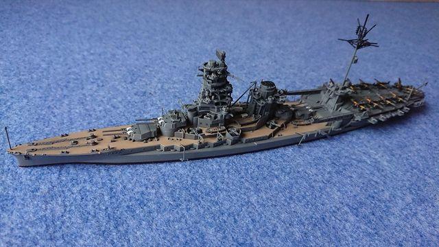 1/700 フジミ模型 航空戦艦伊勢作ってみた。その�完成!