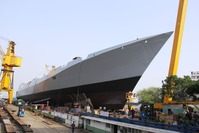 Launching_of_INS_Visakhapatnam_-_4