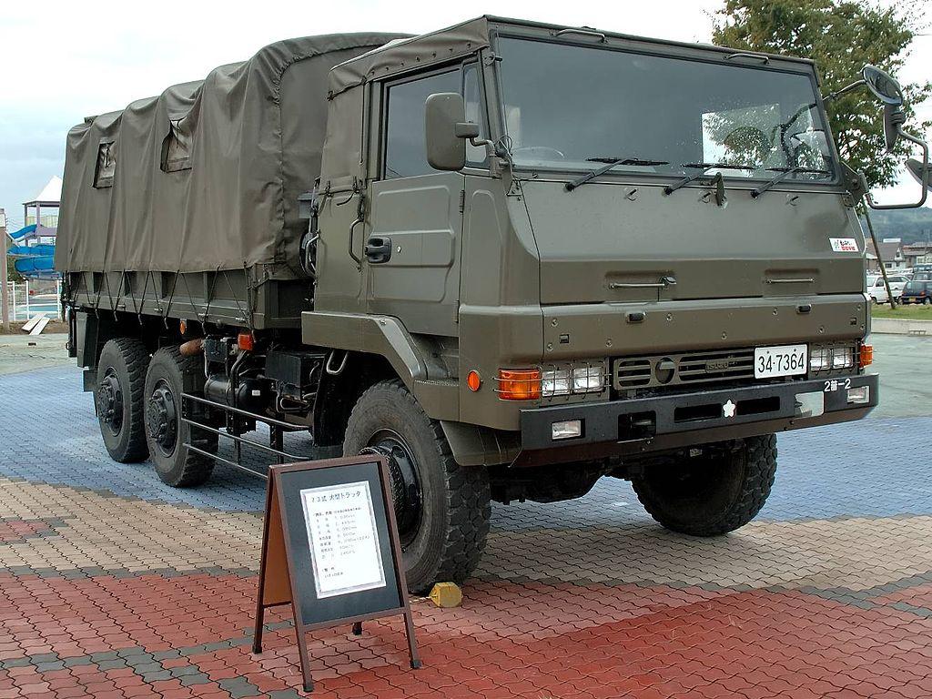 1/72 ミリタリーモデルキットシリーズ No.12 陸上自衛隊 73式大型トラック 3t半 (乗車隊員20体セット)
