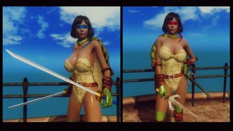 007 weapon Katana & Sai