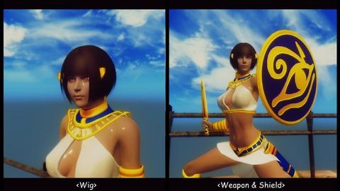 003 Assal wig & weapon