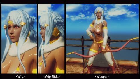 007 Daniela wig & weapon