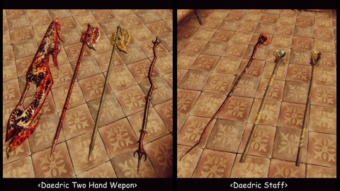 020 Daedric-Two-handed weapons