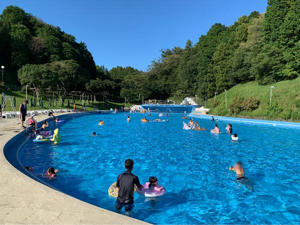 日中のプール