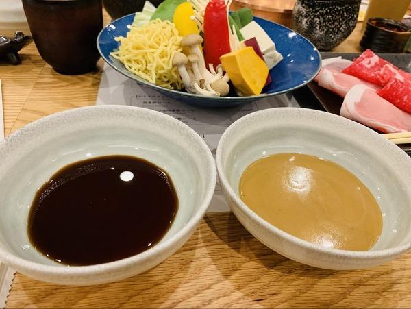 ゴマダレとポン酢