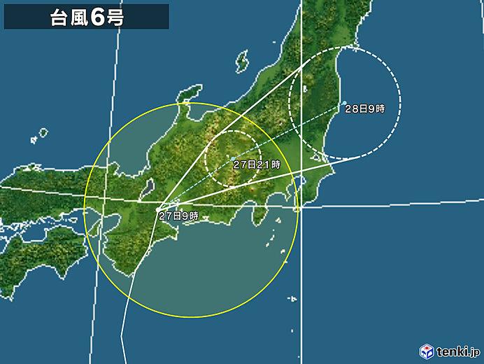 台風 6 号 2019 進路