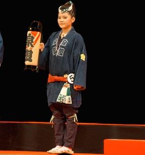 ミス浜松コンテスト中の北村さんの法被姿
