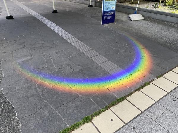 ホロラアイトの光の虹のアーチ