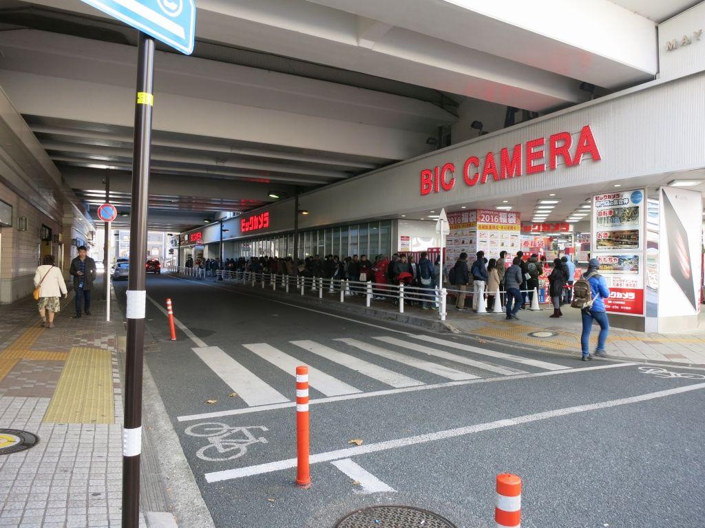 Image result for ビックカメラ 福袋 行列