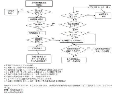 PTE治療アルゴリズム