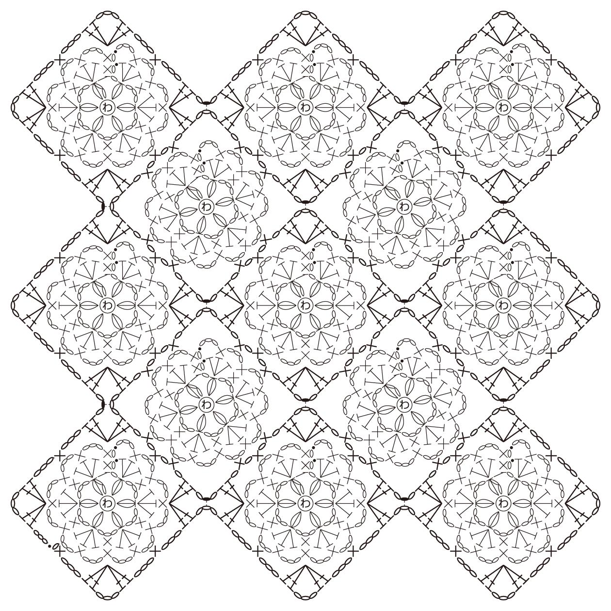 かぎ針編みとレース編みの無料編み図サイト By …