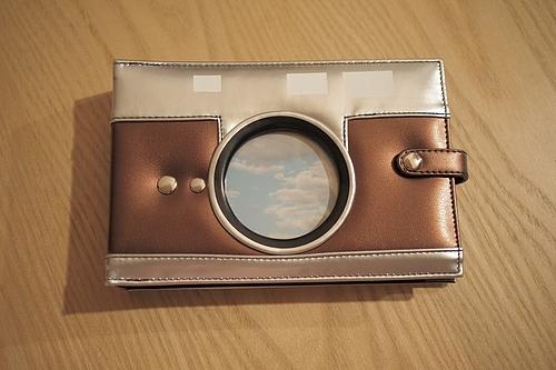 レンジファインダーカメラ風アルバム 写真を入れるとこう