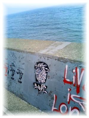 海辺のアート