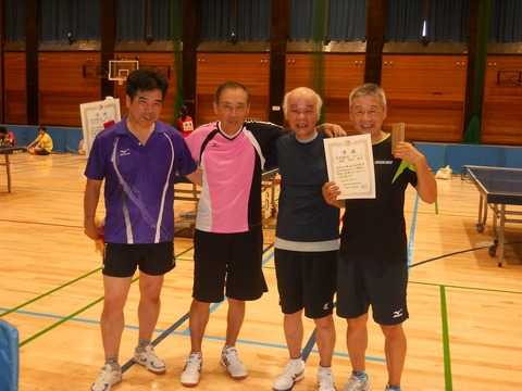 第47回羽村市総合体育大会「卓球の部」シニア入賞者