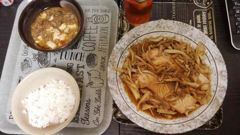 麻婆豆腐&鮭バター醤油
