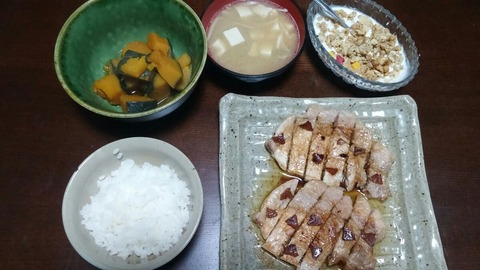 豚ロー、味噌汁