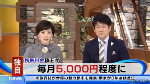 【朗報】ぼったくり談合の携帯料金5000円へ値下げ