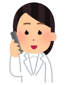 hyoujou_doctor_phone_woman1_smile