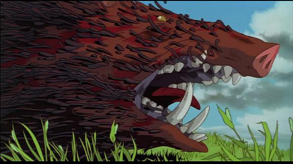 princess mononoke boar gif