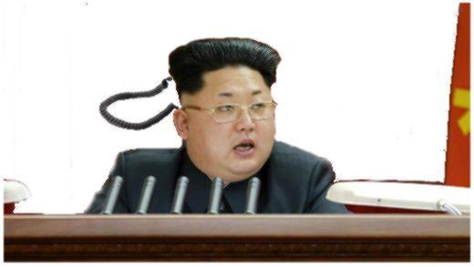 金正恩黒電話カット画像