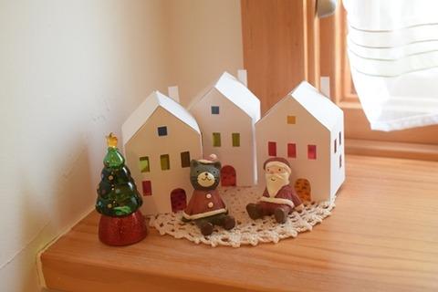 トイレにもクリスマスの飾りを