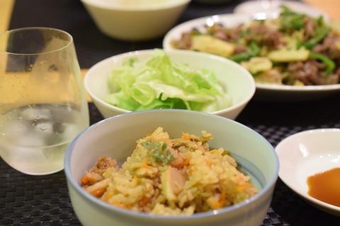 筍いっぱいの夕食