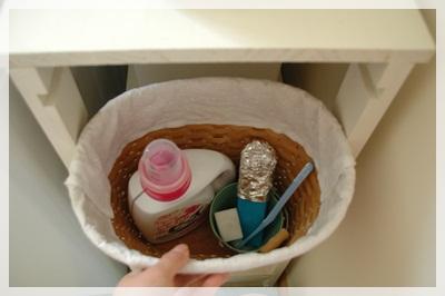 さっと洗濯洗剤を出せます