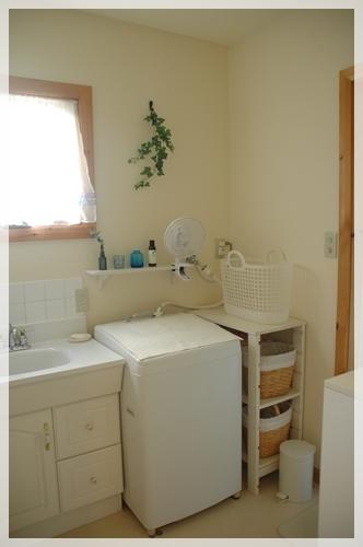 洗面所に扇風機