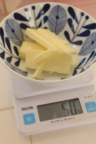 バターを計量