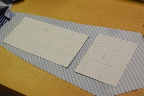 型紙の置き方