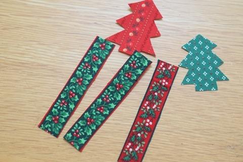 クリスマスの布シール