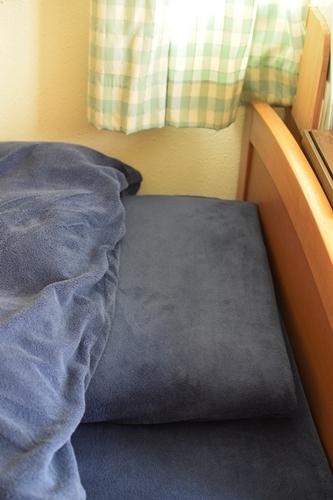 息子のベッドカバー