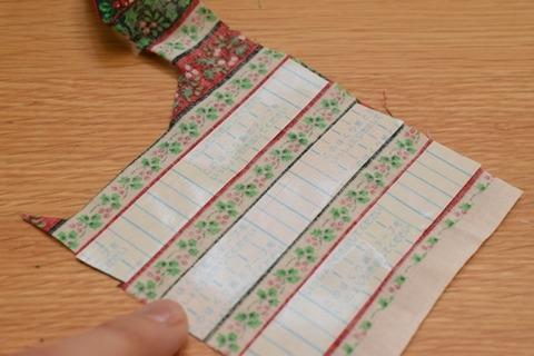 クリスマス柄の布